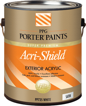 Acri shield exterior acrylic paint from ppg porter paints - Acrylic paint exterior plan ...