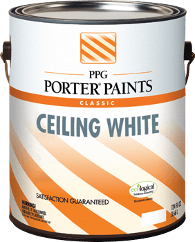 Ceiling White Interior Latex Paint From Ppg Porter Paints 174
