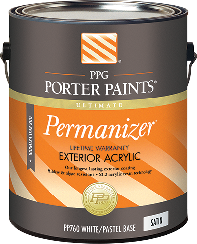 Permanizer exterior acrylic paint from ppg porter paints - Acrylic paint exterior plan ...