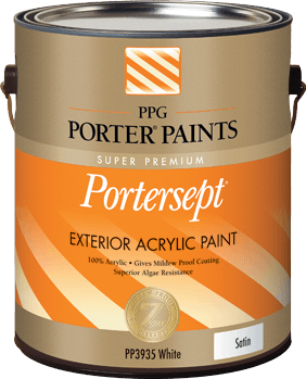 Portersept exterior acrylic paint from ppg porter paints for Porter exterior paint