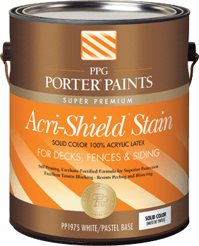 Acri Shield Solid Color Acrylic Latex Stain From Ppg Porter Paints
