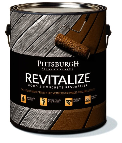 Revitalize Wood and Concrete Resurfacer from Pittsburgh Paints and