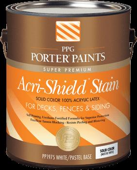 Acri shield solid color acrylic latex stain from ppg - Exterior acrylic latex stain blocking primer ...